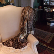 Leopard  Skin Print Velvet Throw