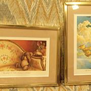 Bear Prints in Gold Frames