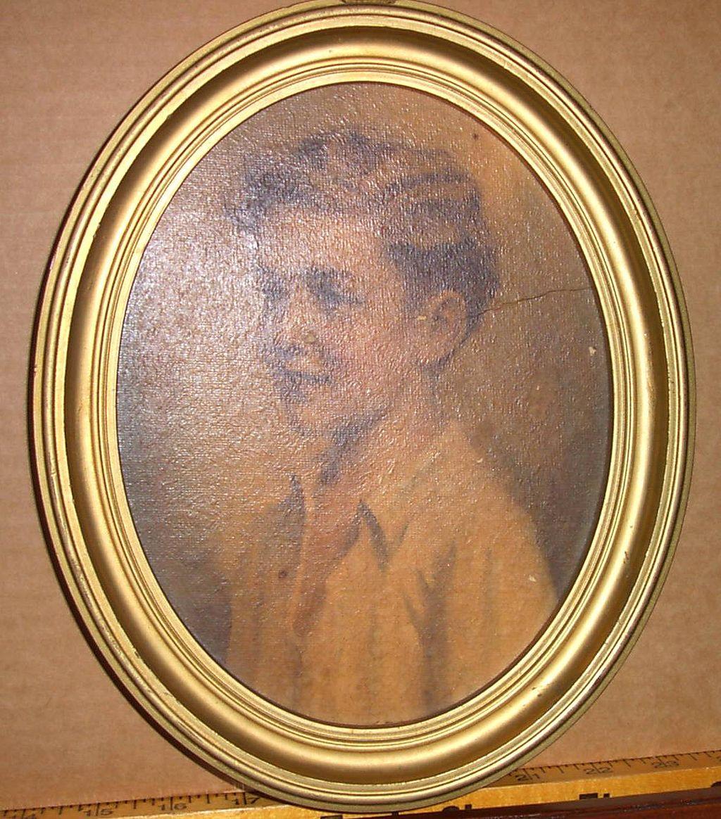 Boy Portrait in Oval