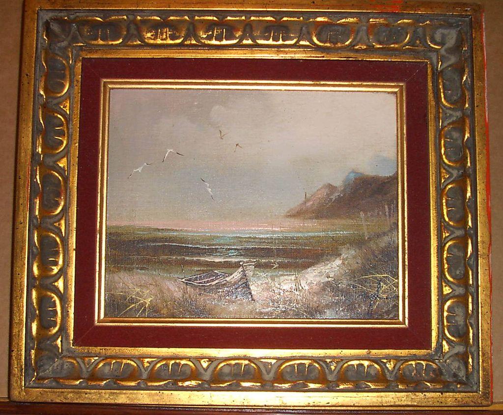 Original Signed Oil Painting On Canvas Carolines