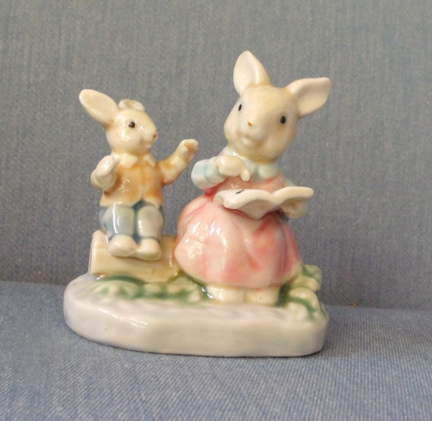 Mother Bunny with Baby Bunny Porcelain
