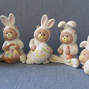 Bunny Babies in Bisque Porcelain