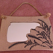 Pottery Clay Mirror by Susie Spears