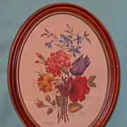 Botanical by L.F. Roubillac LIthograph Framed