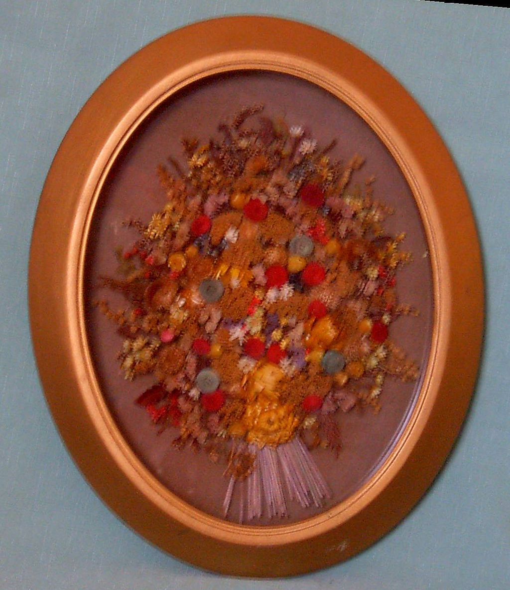 Framed Dried Floral Arrangement
