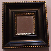 Miniature Black Framed Mirror
