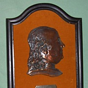 Ben Franklin 3D Brass Plaque
