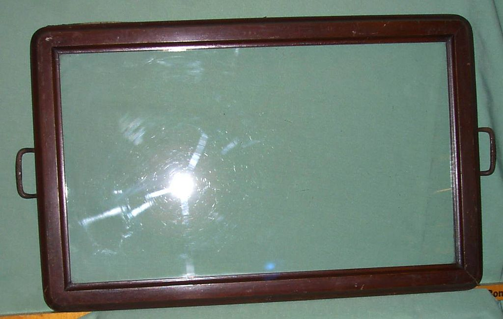 Serving Tray with glass