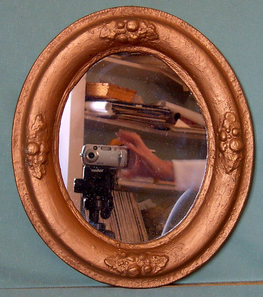 This Mirror Could Look Ugly And Old Fashioned But In This: Antique Oval Mirror From Carolines-collectibles On Ruby Lane