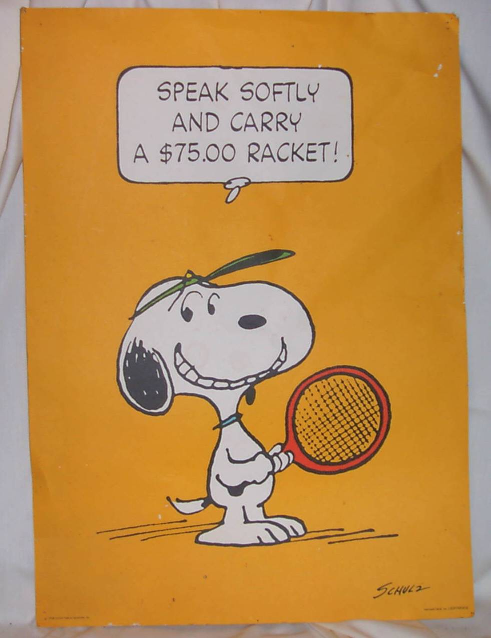 Charlie Brown Tennis Poster