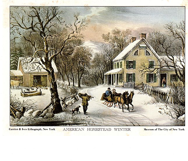 Currier and Ives Prints-LIthographs