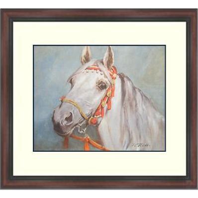 Wolfgang Tritt Watercolor Print Framed Lithograph-Tritt-A Fine Arabian Horse