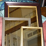 Mirror Collection of 3-Gold-Silver-Mahogany
