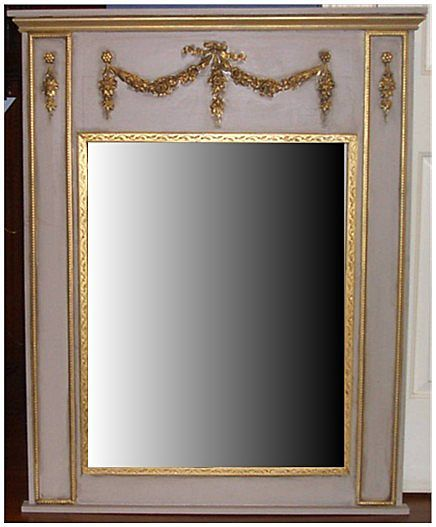 trumeau french style wall mirror from carolines collectibles on ruby lane. Black Bedroom Furniture Sets. Home Design Ideas