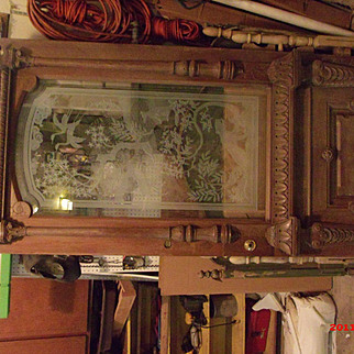 Entry Door-Antique Ornate Etched Glass