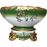Timeless Limoges Holly Berry Punch Bowl  ON SALE  20% discount off listed price 3 Nov - 31 Dec 2016