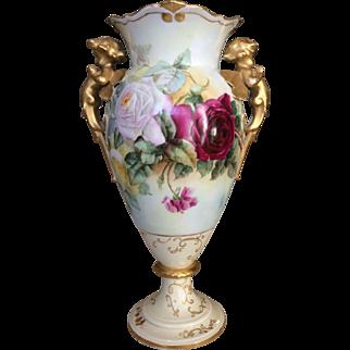 Phenomenol Limoges Cherub and Roses Vase