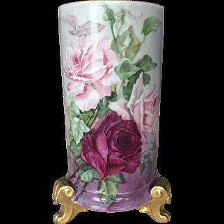 Stunning Limoges Vase.  30% Off All Porcelain Sitewide