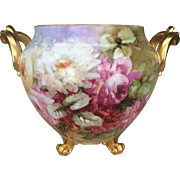 Magnificent Limoges Roses Jardiniere