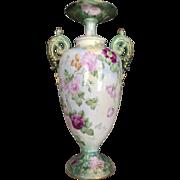 Incredible Roses Belleek Vase