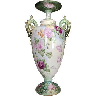 Incredible Roses Belleek Vase.