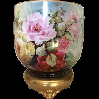 Gorgeous Limoges Roses Jardiniere 20% discount 3 Nov - 31 Dec 2016