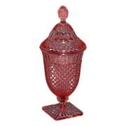 Pink Miss America Covered Candy Jar