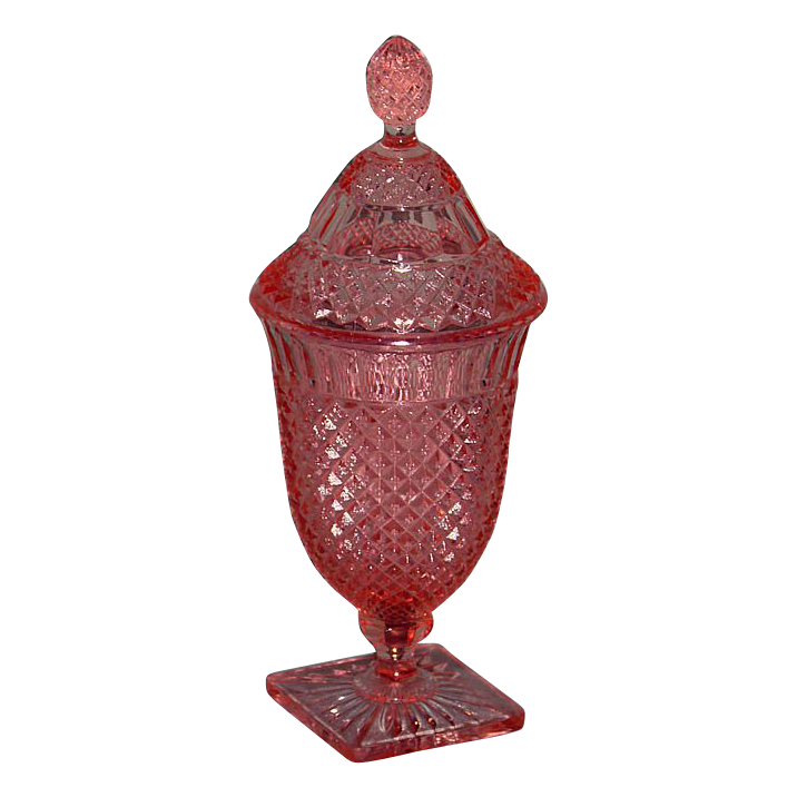 Pink Miss America Covered Candy Jar Carolyn 39 S Timeless Treasures Ruby Lane