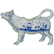 Blue and White Cow Creamer