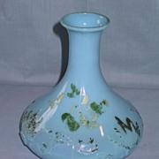 Blue Milk Glass Barber Bottle or Decanter