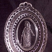 Minerva Bread Plate Boston and Sandwich c. 1870's