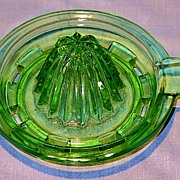 Hocking Green Depression Glass Reamer Top