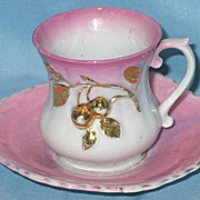 Pink Luster Cup and Saucer