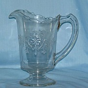 Faceted Flower EAPG Pitcher