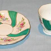 Hand Painted Cup and Saucer Marked Japan
