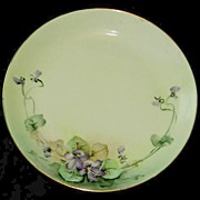 Hutschenreuther Selb Bavaria Hand Painted Plate with Violets