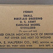 1942 Small First-Aid Dressing U.S. Army Carlisle Model