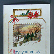 May You Enjoy a Merry Christmas  1917 Gel card