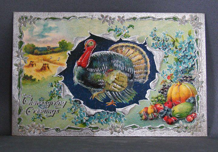1910 Thanksgiving Greetings Printed in Germany