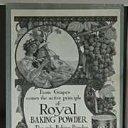 Royal Baking Powder 1908 Ladies Home Journal Advertising