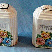 Harker skyscraper salt and pepper shakers