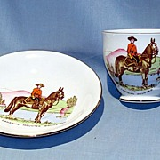 Royal Canadian Mounted Policeman English bone china cup and saucer Taylor and Kent