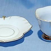 Demitasse cup and leaf-shaped saucer Japan