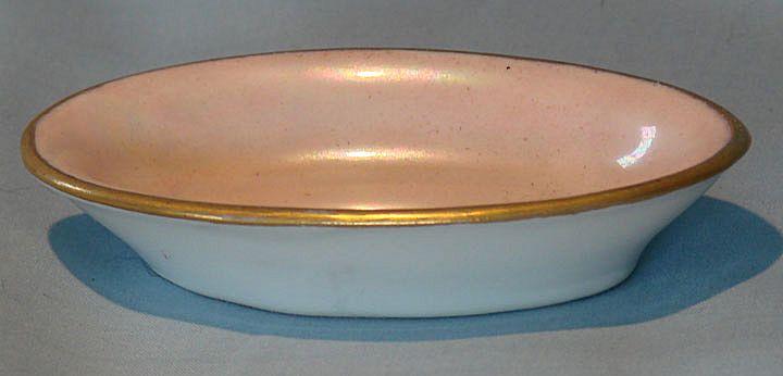 O & E. G. oblong pink luster salt dip