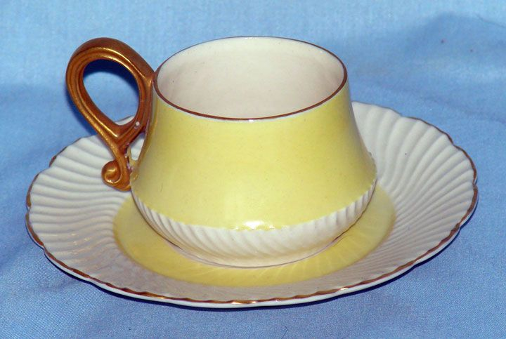 Rose Crown China yellow cup and saucer