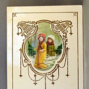 1914 Christmas  lacquer postcard printed in Germany