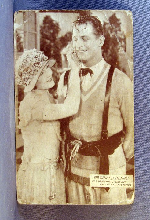 """Reginald Denny in Universal pictures """"Lightning Lover""""  Real Photo Post Card"""