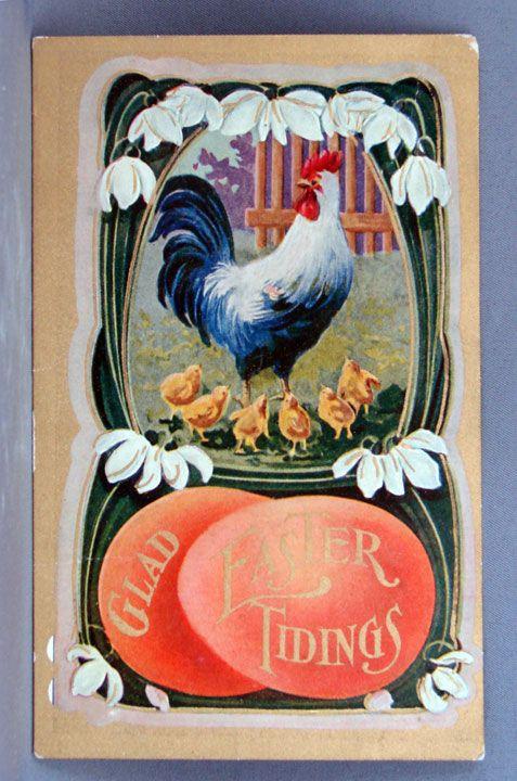 1910 Glad Easter Tidings postcard