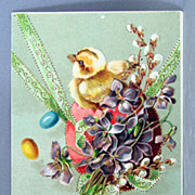 1909 Happy Easter Postcard