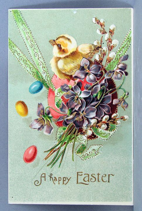 1909 Happy Easter Postcard